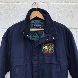 swingster Jackets & Coats - Vintage Navy Blue Swingster Bomber Jacket
